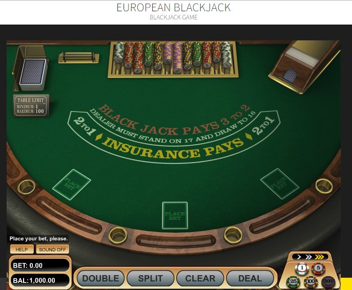 play free blackjack casino game