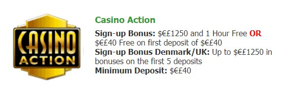 Bonuses @Casino Action