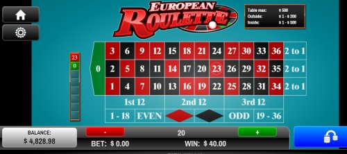 casino mobile online european roulette play
